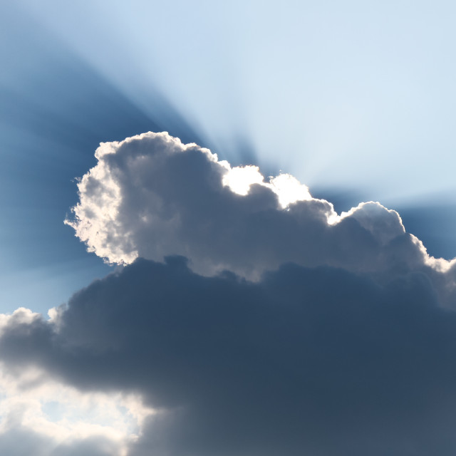 """Every cloud has a silver lining"" stock image"
