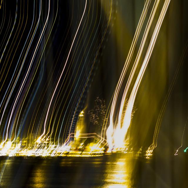 """Fireworks Motion blur"" stock image"