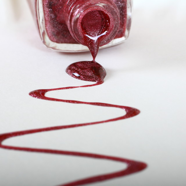 """Metalic nail varnish"" stock image"