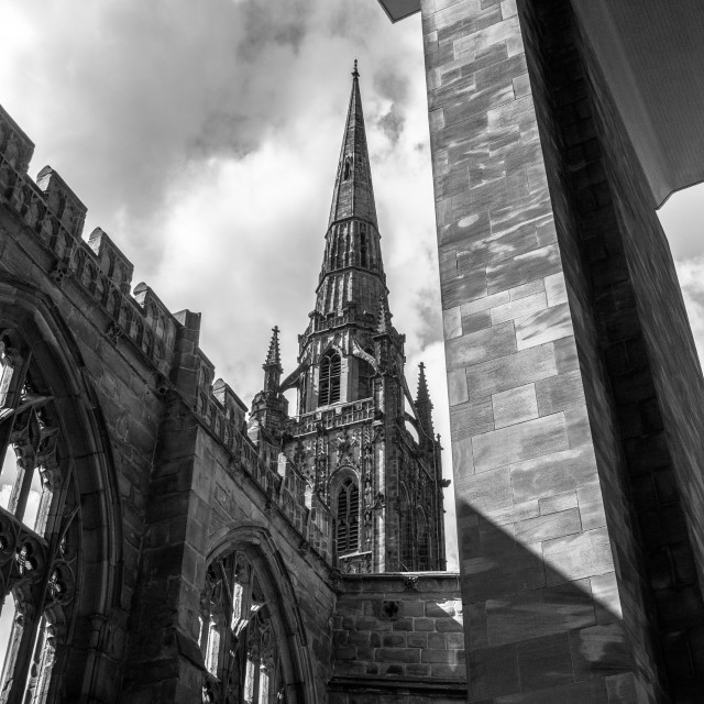 """""""Coventry Cathedral"""" stock image"""