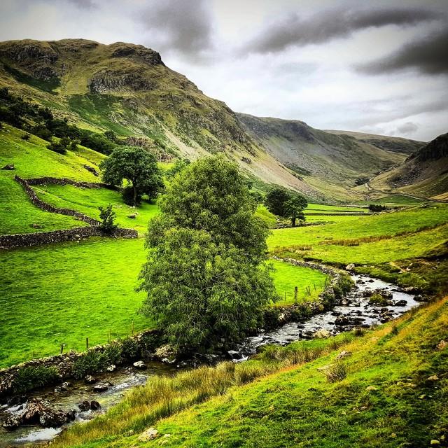 """Longsleddale Valley, Cumbria"" stock image"