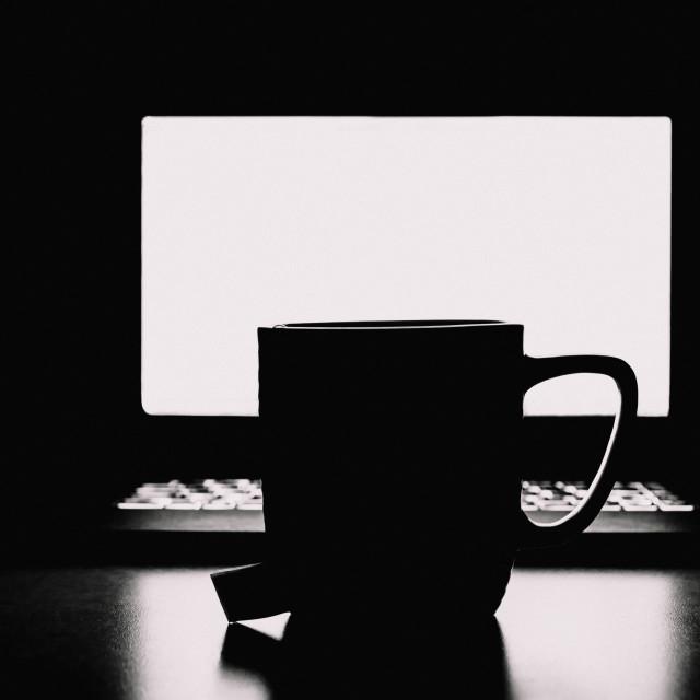 """Tea mug silhouette"" stock image"