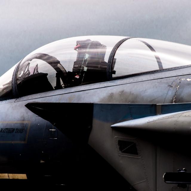 """Eagle cockpit"" stock image"