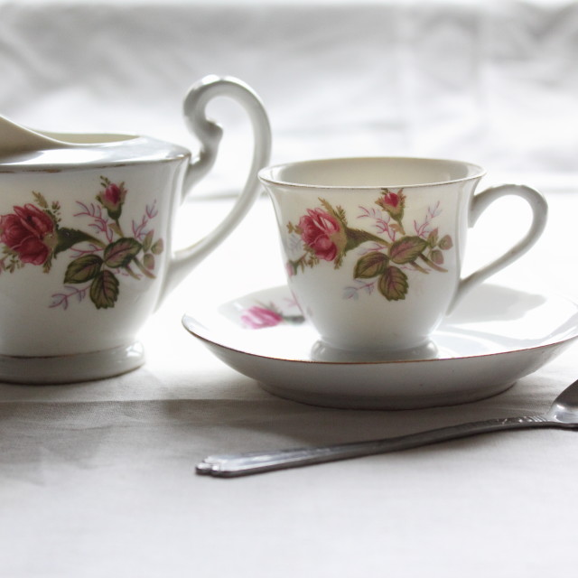 """Old tea set"" stock image"