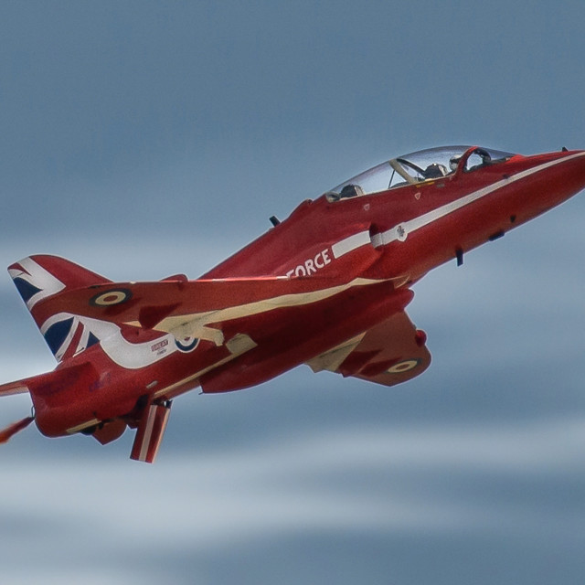 """""""Red Arrow Ascends"""" stock image"""