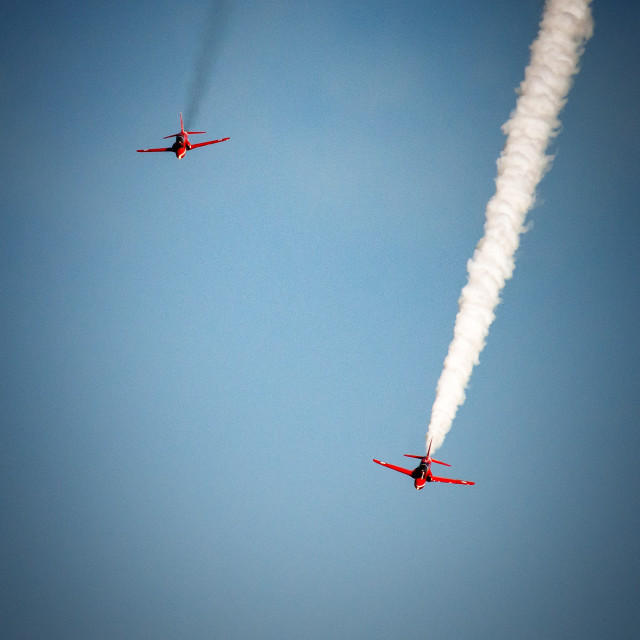 """""""Red Arrow Chase"""" stock image"""