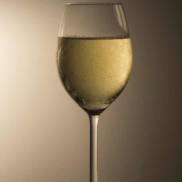 """Chilled Chardonnay"" stock image"