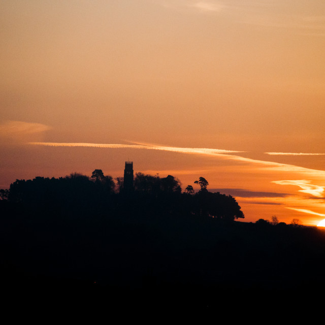 """Dawn on the Folly"" stock image"