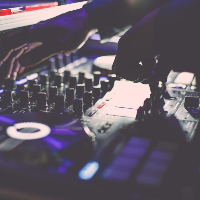 """DJ controls"" stock image"