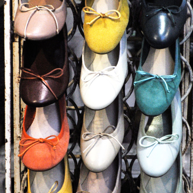"""San Gimignano shoes"" stock image"