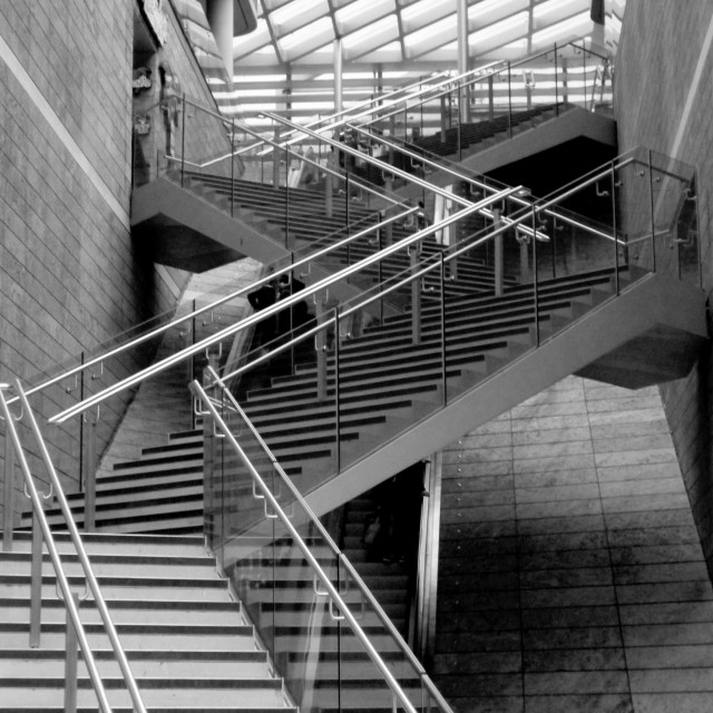 """Ascent to Liverpool One"" stock image"