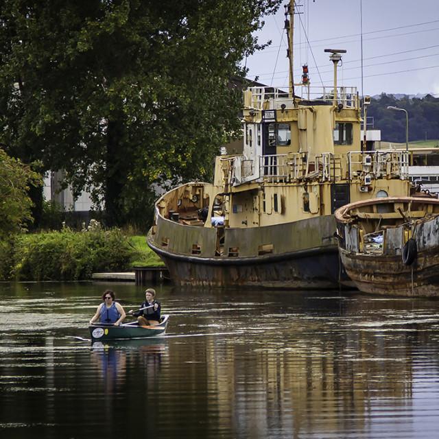 """""""Kayak Canal"""" stock image"""