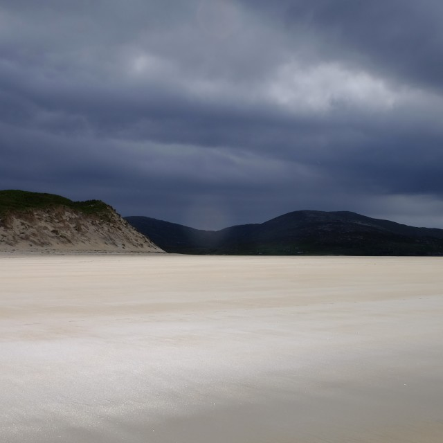 """Luskentyre beach on the Isle of Harris"" stock image"