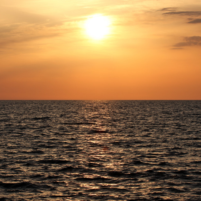 """Mediterranean Sunset"" stock image"
