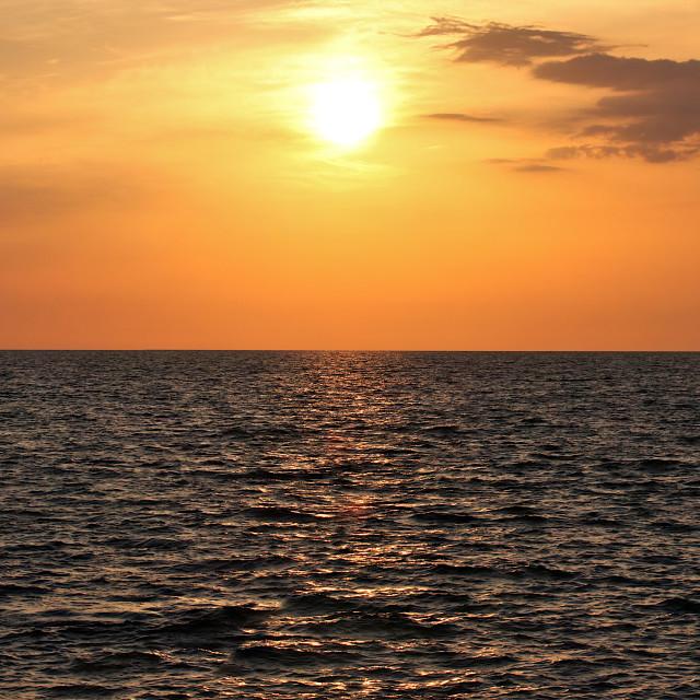 """""""Mediterranean Sunset Pano"""" stock image"""