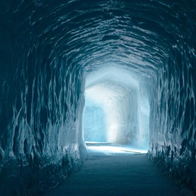 """Inside the Glacier"" stock image"