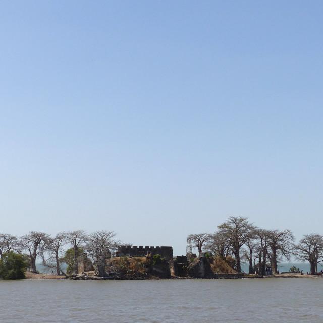 """Kunta Kinteh Island, Gambia River"" stock image"