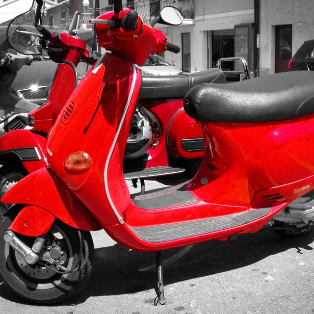 """Italian scooters"" stock image"