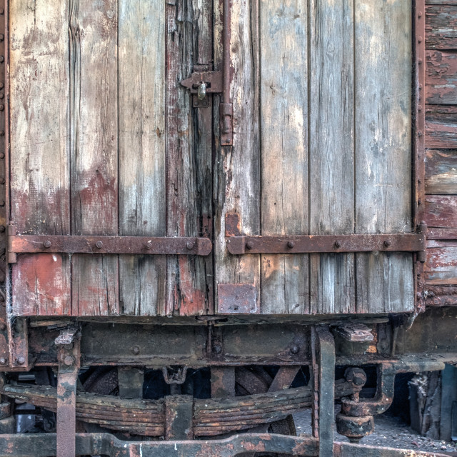 """""""Old rolling stock"""" stock image"""