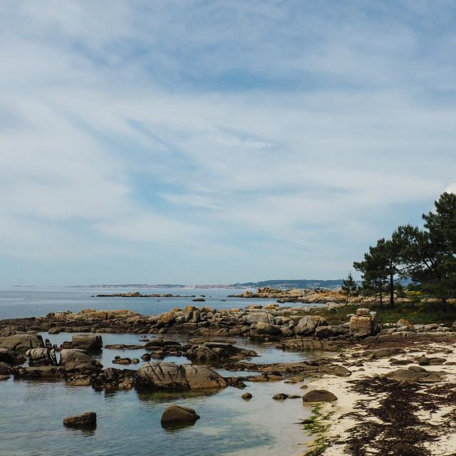 """""""Beach, Arousa, Galicia"""" stock image"""