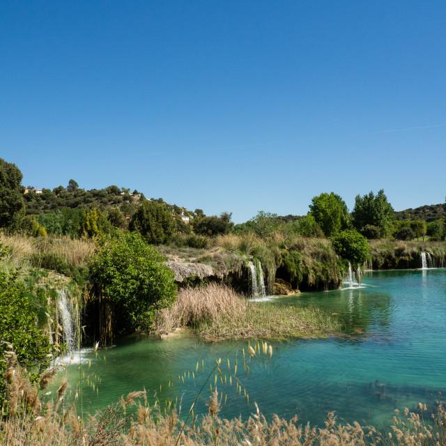 """Lagunas de Ruidera, Spain"" stock image"