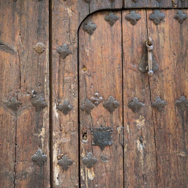 """""""Door, Spain"""" stock image"""