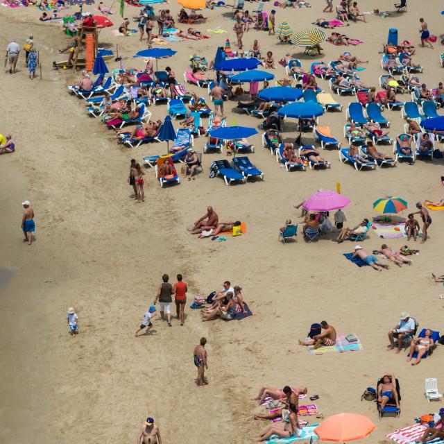 """Benidorm Beach Scene"" stock image"