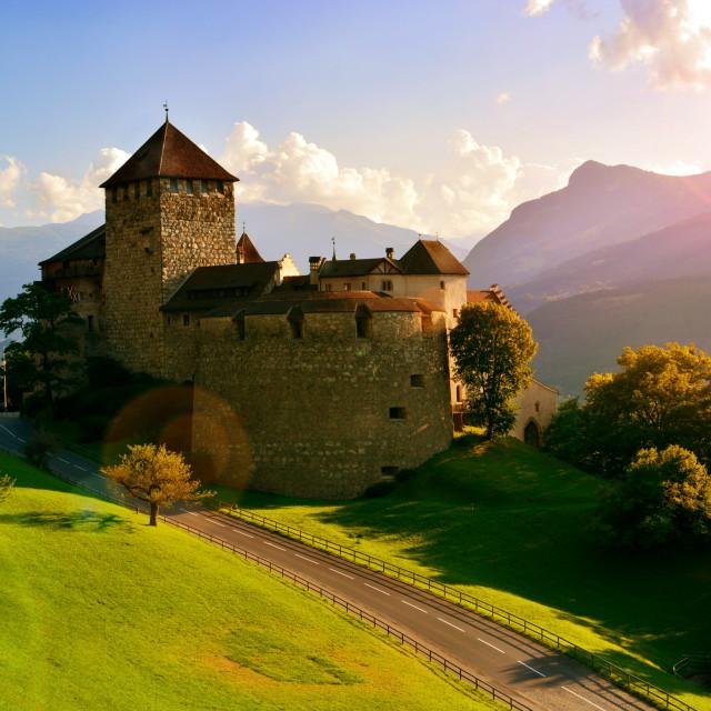 """""""Vaduz Castle"""" stock image"""