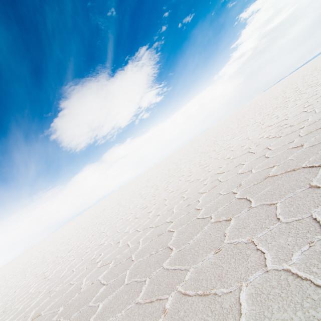 """""""Uyuni Salt Flats"""" stock image"""