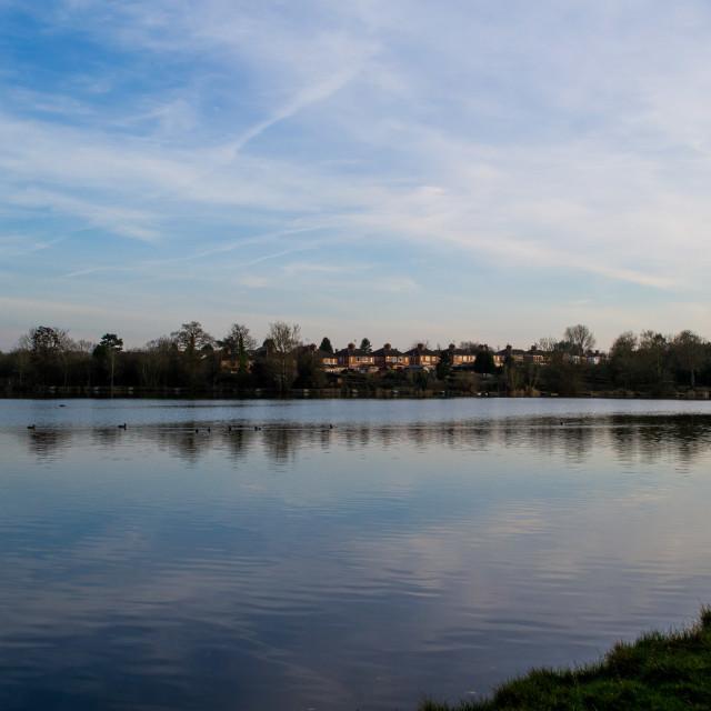 """Earlswood lakes"" stock image"