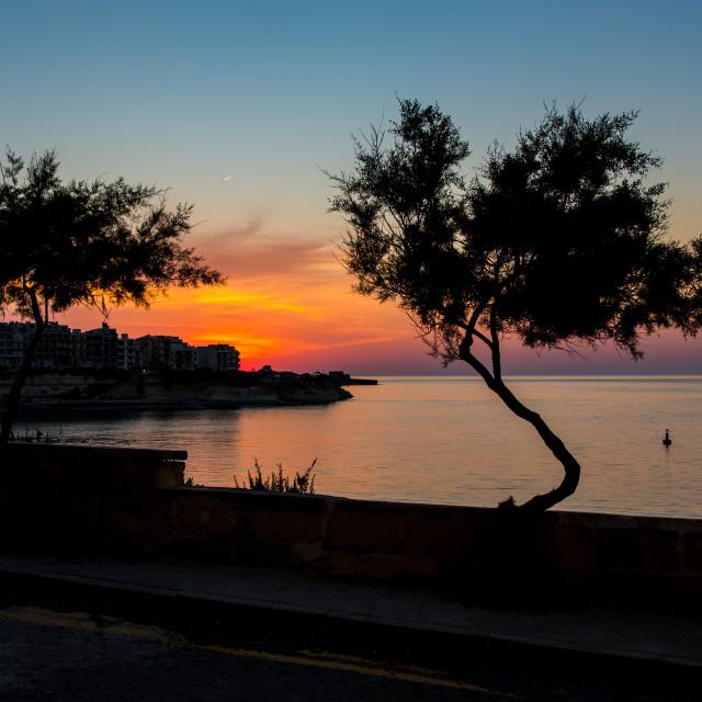 """""""Sunset on Gozo"""" stock image"""