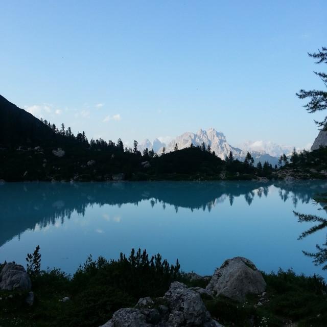 """""""lake Sorapis"""" stock image"""