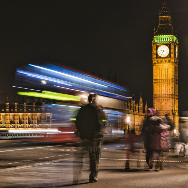 """9:35pm on Westminster Bridge"" stock image"