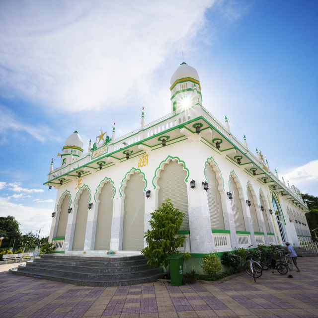 """Mosque in An Giang province"" stock image"