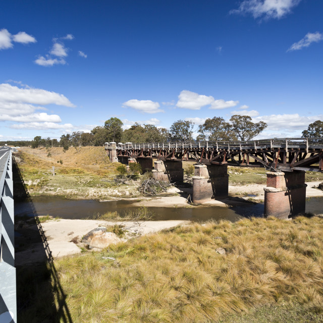 """Tenterfield Railway Bridge"" stock image"