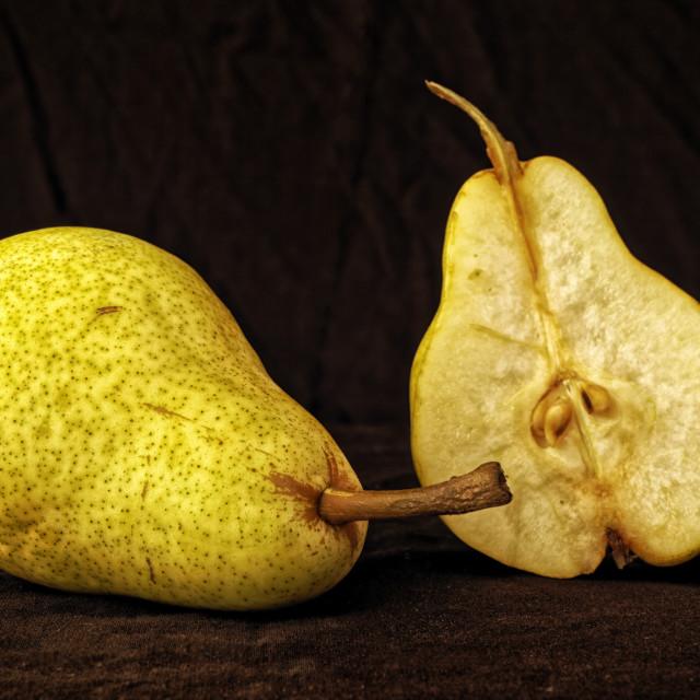 """""""Cut pear"""" stock image"""