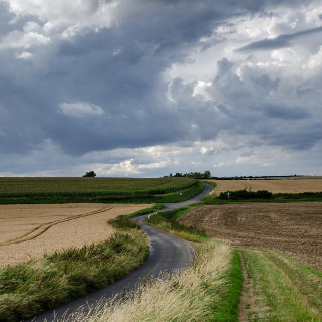 """Cambridgeshire Lanes"" stock image"