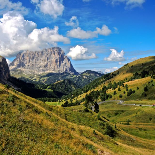 """Vista sul Sassolungo"" stock image"