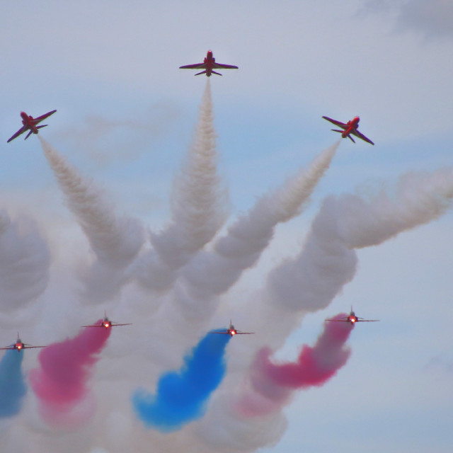 """Red Arrows breaking"" stock image"