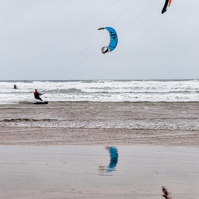 """""""Kite Surfing 1"""" stock image"""