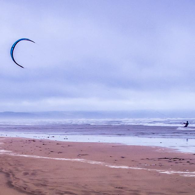 """Kite Surfing 2 (Colour)"" stock image"