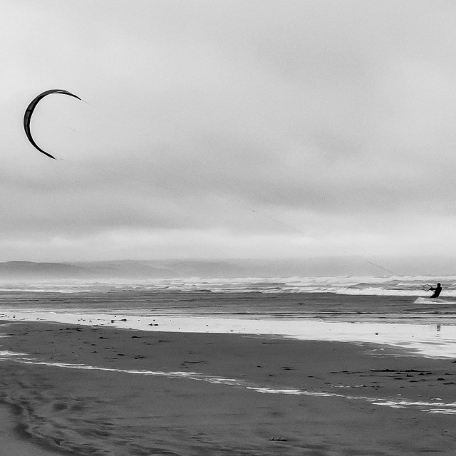 """Kite Surfing 2 (Monochrome)"" stock image"
