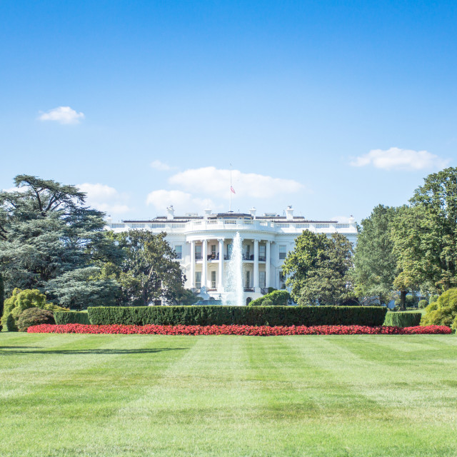 """The White House"" stock image"