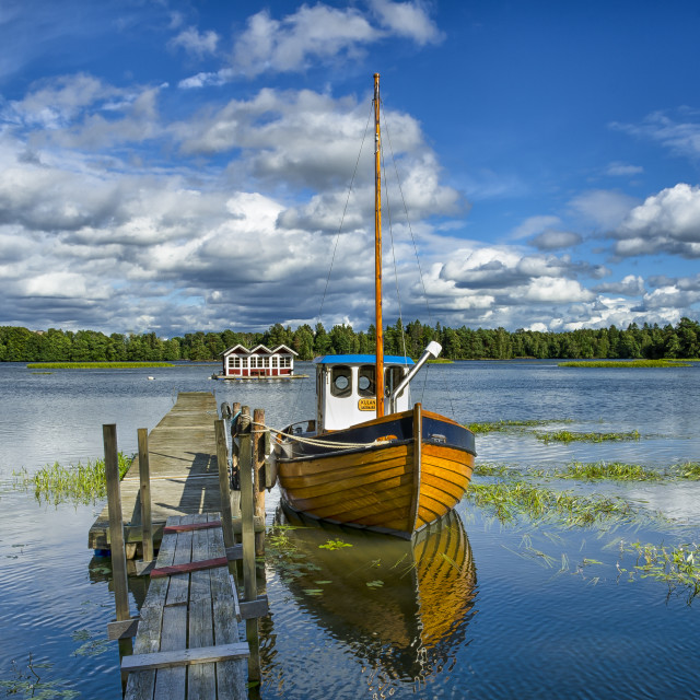 """Swedish lake"" stock image"
