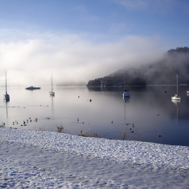 """Windermere Lake in Winter"" stock image"