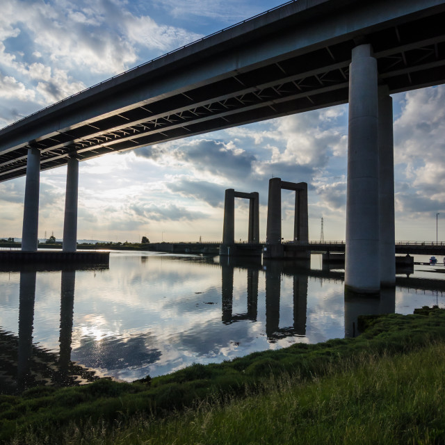 """Sheppey Bridge"" stock image"