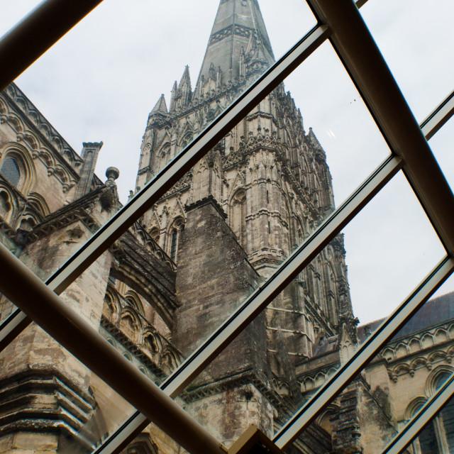 """Salisbury Cathedral Spire"" stock image"