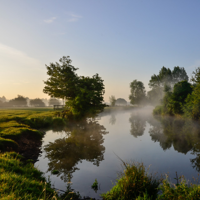 """Stour at dawn"" stock image"
