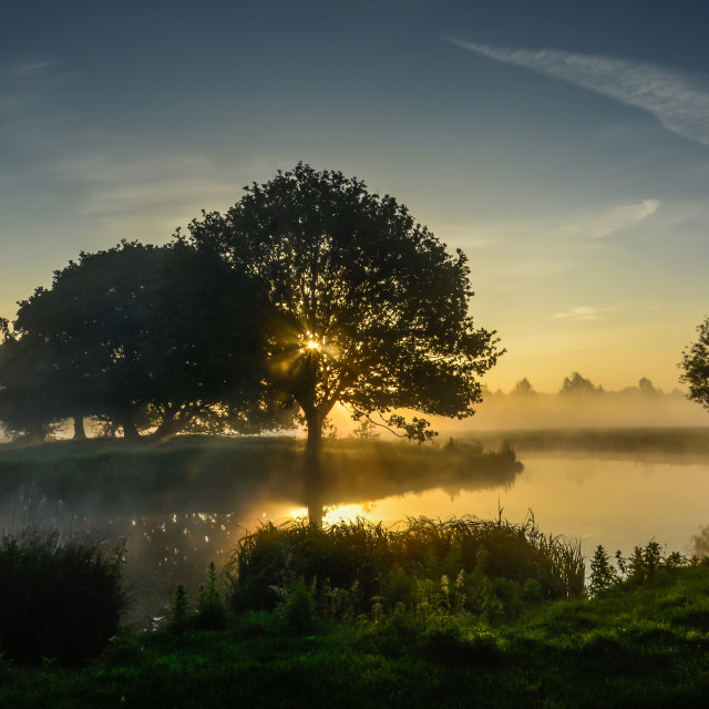 """Sunrise at Dedham Vale"" stock image"