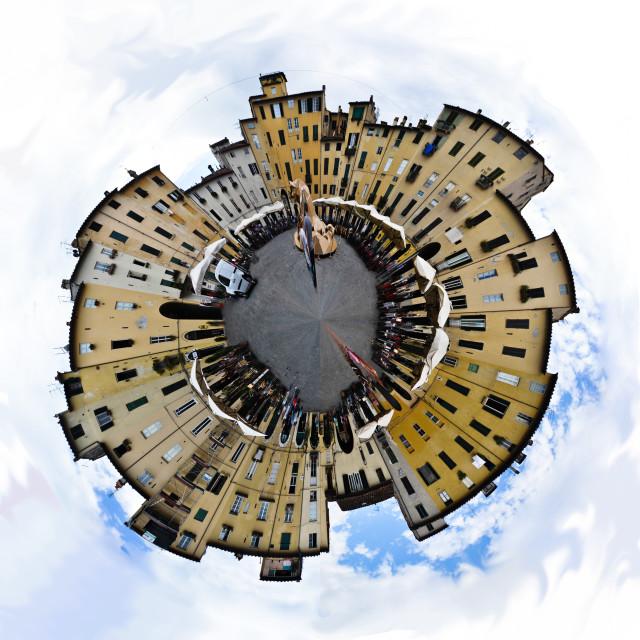 """Luca, Piazza Anfiteatro"" stock image"